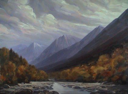 В горах кавказа х м 75х100 2007 г